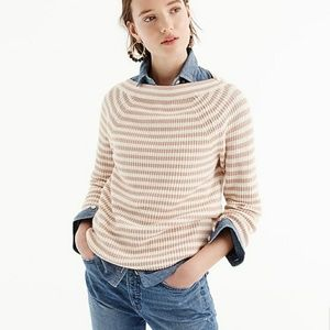 J. CREW Relaxed boatneck sweater in stripe